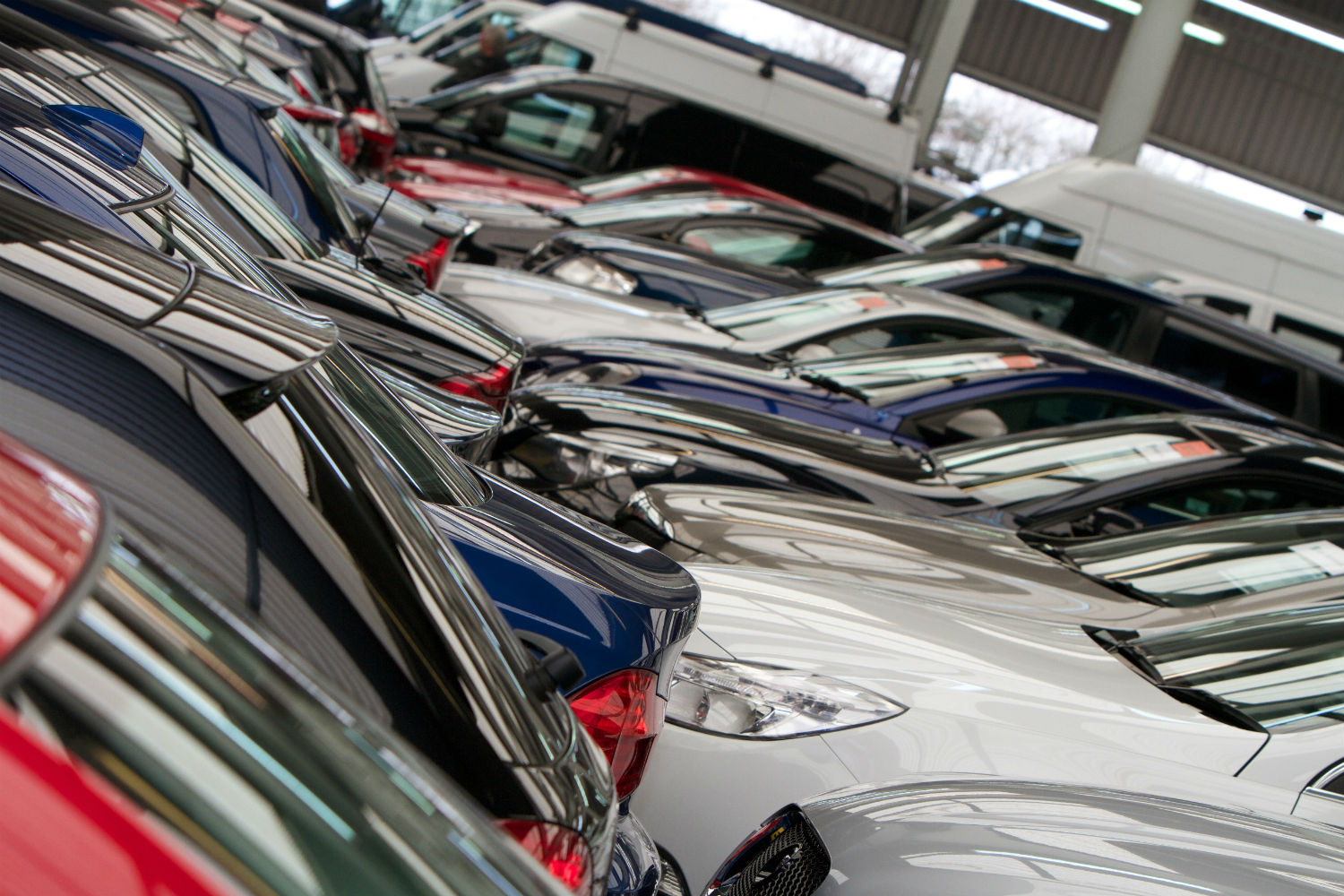 Cars and vans prepared for auction