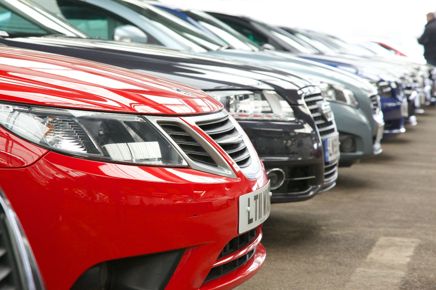 Cars parked in a row, ready for auction sales