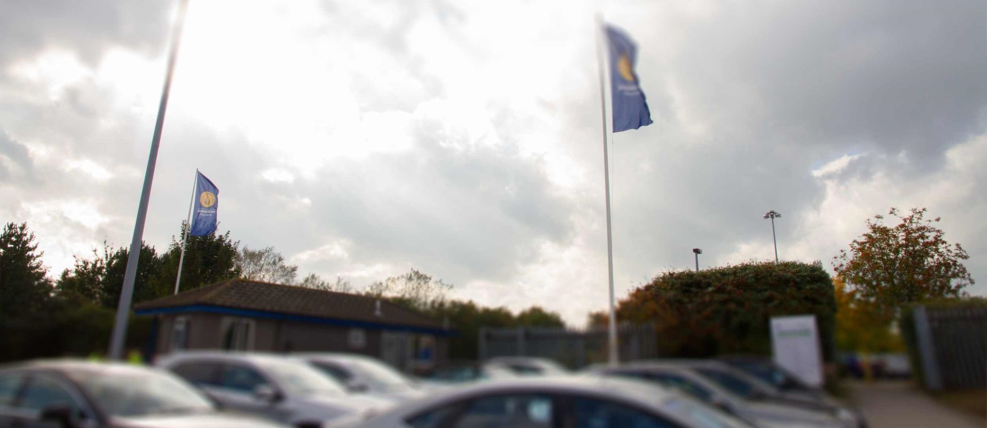 Cars outside a Manheim auction centre