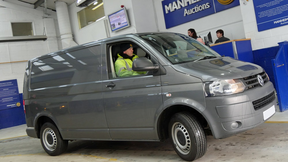 Van at commercial vehicle auction centre