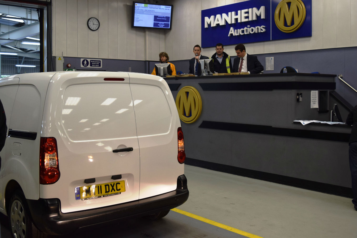 Van at a commercial vehicle auction