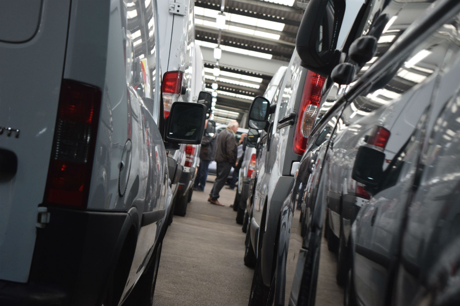 Commercial vehicles for sale at a Manheim auction