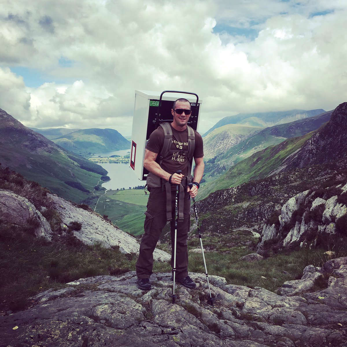 The Fridge Hiker's Stride for a Charity: Manheim account manager, Matthew Bamber