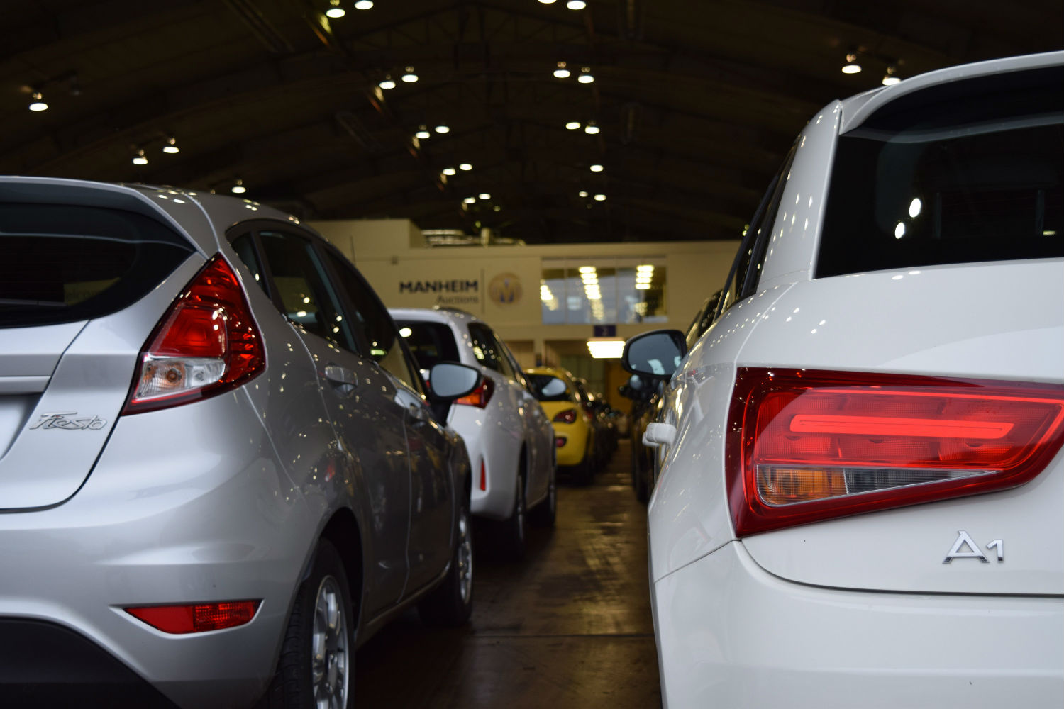 Auction vehicles ready for sale