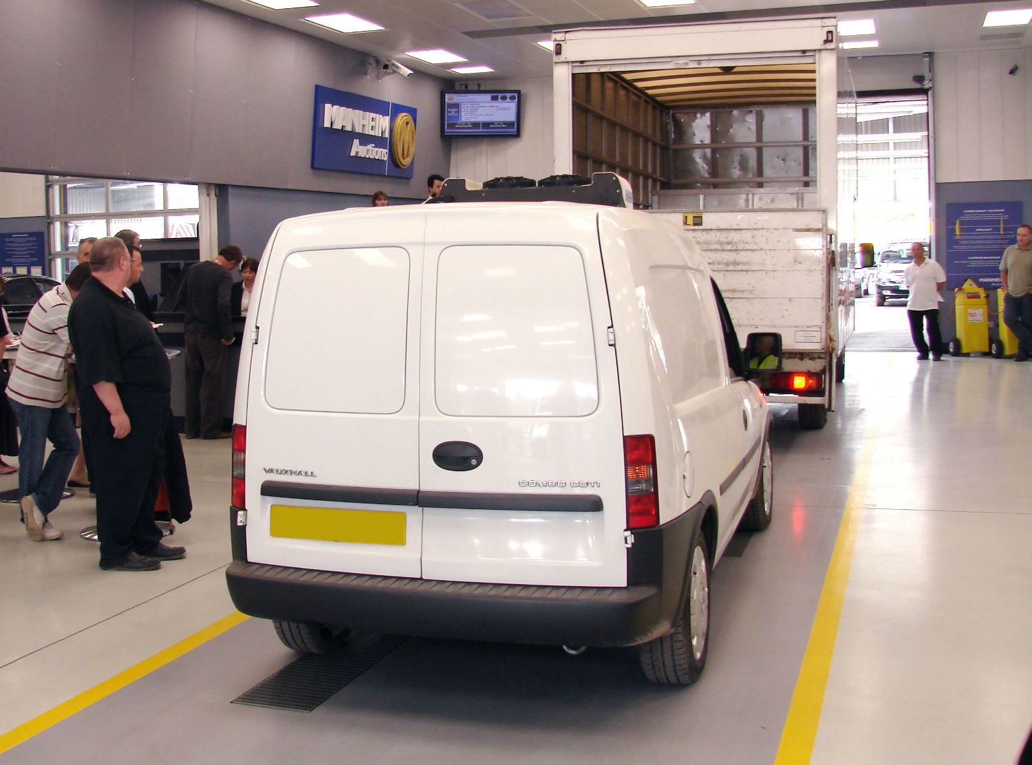 Commercial vehicle auction at Manheim