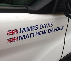 James Davis and Matthew Davock officially become white van men