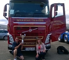 Truck show and truck racing event at Silverstone