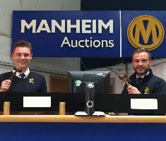 Auctioneers James Nutt (L) and Charlie Lawton (R)