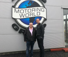 Peter Waddell and Martin Forbes outside Big Motoring World