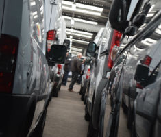 Commercial vehicles at a Manheim auction centre