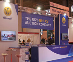 Commercial vehicle stand from the CV show