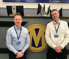 Manheim team members Dean Ashworth and John Fletcher