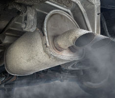 Exhaust fumes from van