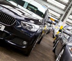 Fleet vehicles prepared for an auction