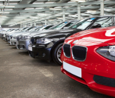 Fleet vehicles line up for auction