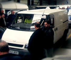 Ford Transit van at auction