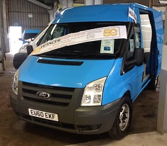 Hitachi Capital donated Transit van for Manheim