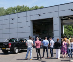 Buyers attend Manheim's Hitachi Capital auction