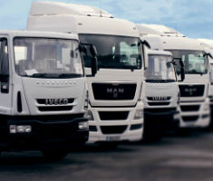Trucks at Manheim Coventry's new dedicated HGV auction centre
