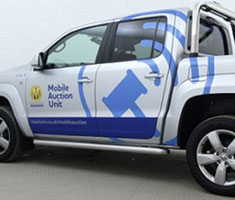 Manheim's mobile auction unit