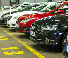 Part exchange cars ready at a Manheim auction centre