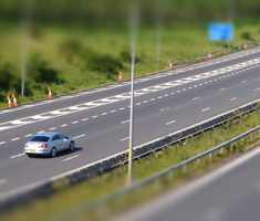Motorway on a sunny day
