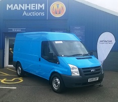 Transit van donated by Hitachi Capital with all proceeds from auction being donated