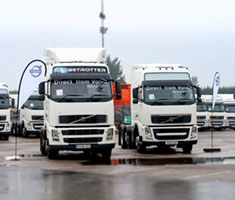 Trucks lined up outside a Manheim auction centre