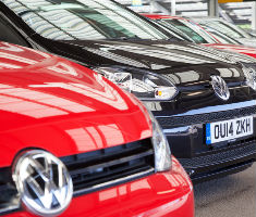 Volkswagen vehicles lined up for auction