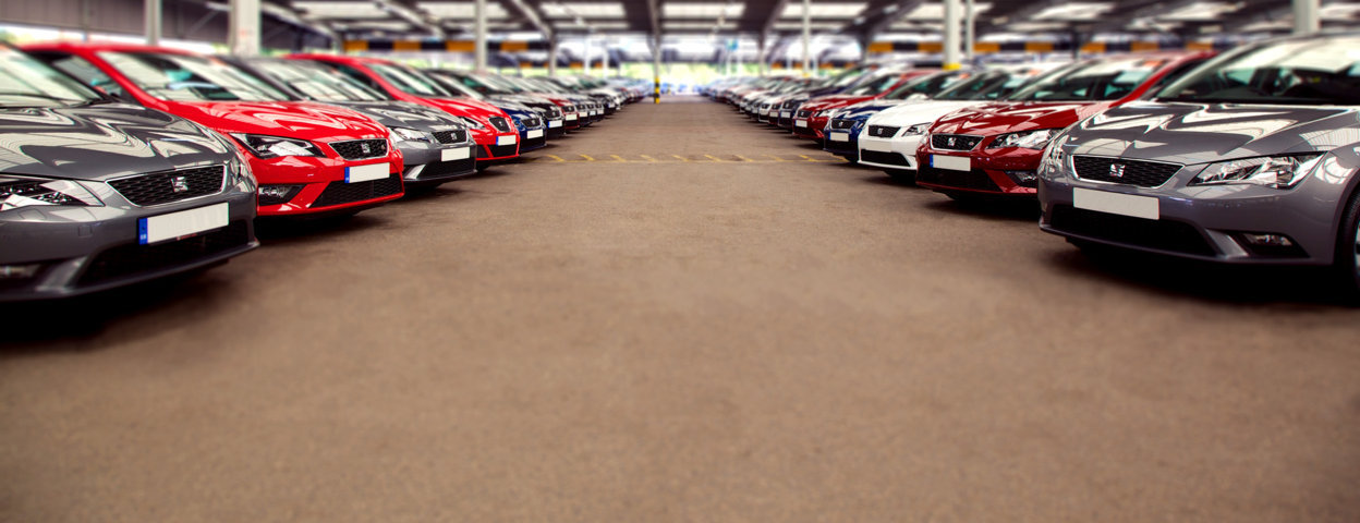 Line up of cars at Colchester