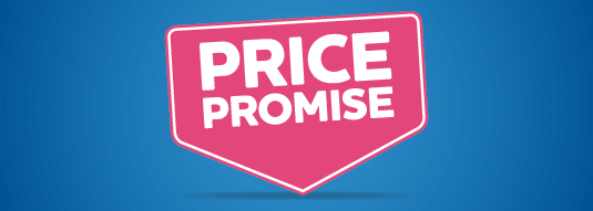 We undertake to be the best value, that's why we publish our prices