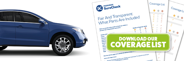 Manheim SureCheck inclusion and exclusion list - click here to download