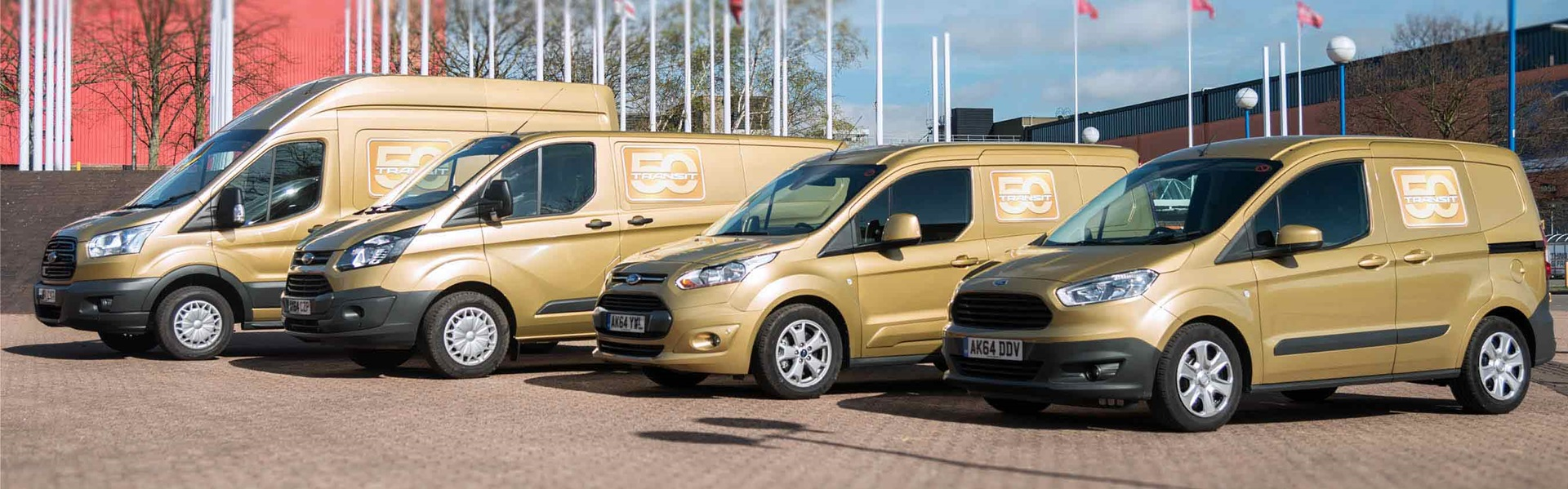 Line up for Ford Transit Vans