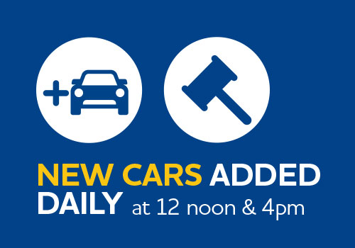 News cars added online daily at 12noon and 4pm