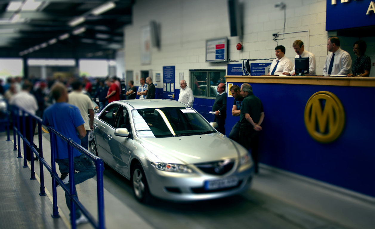 Car auction at Manheim Mansfield