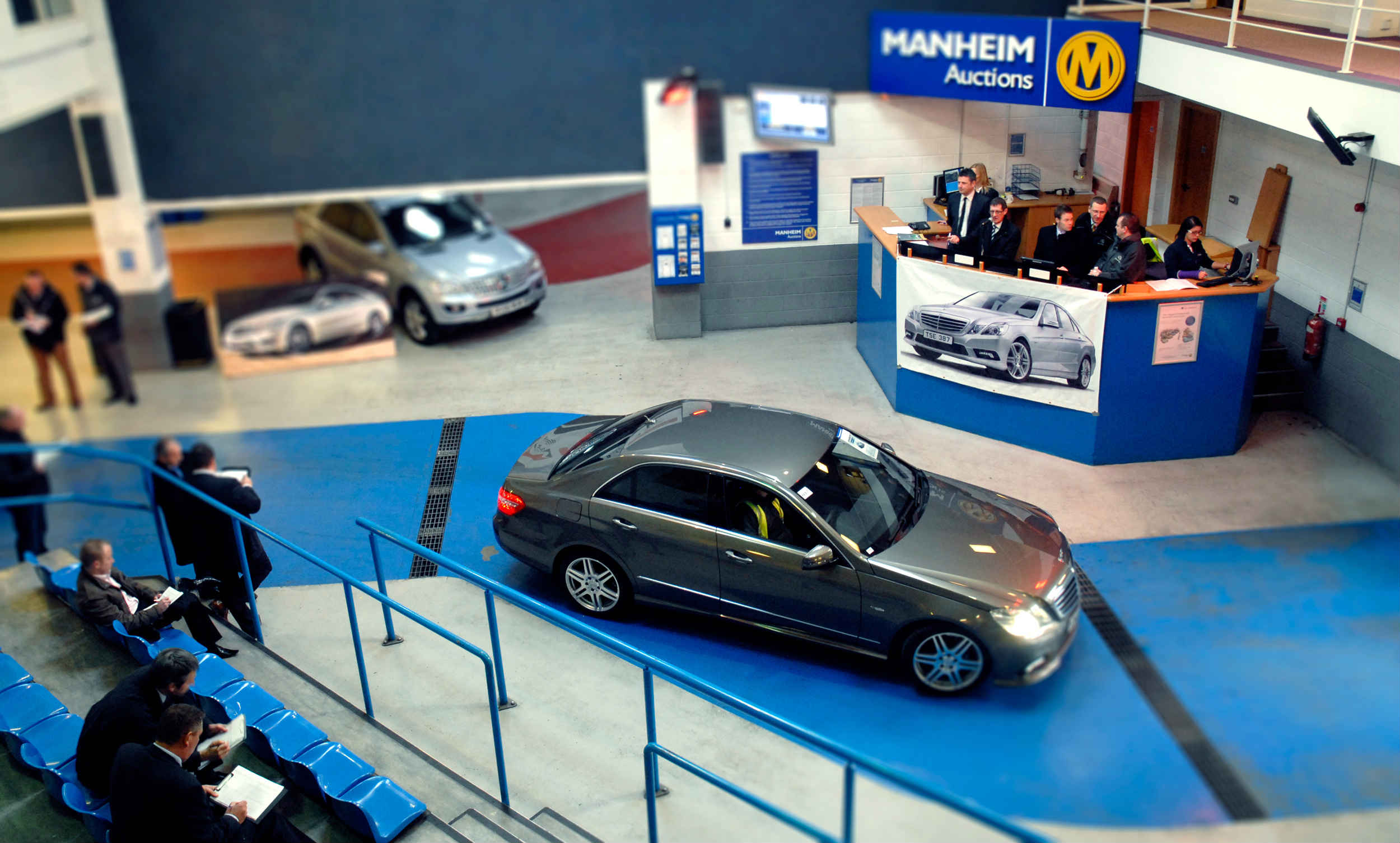 Closed car auction at Manheim
