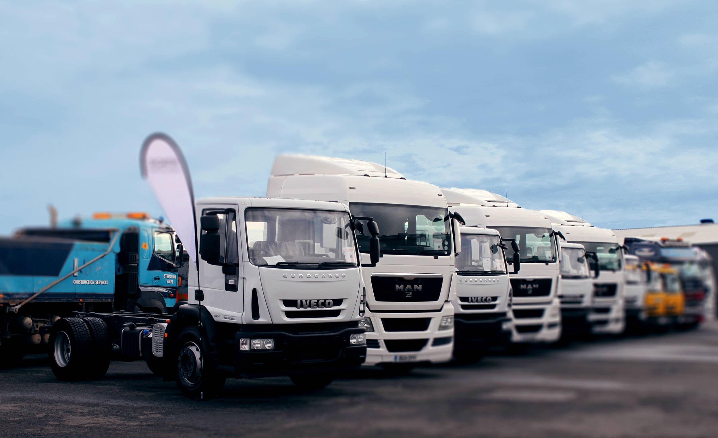 Commercial vehicles: Trucks lined up for auction