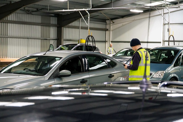 Vehicle inspections at Manheim