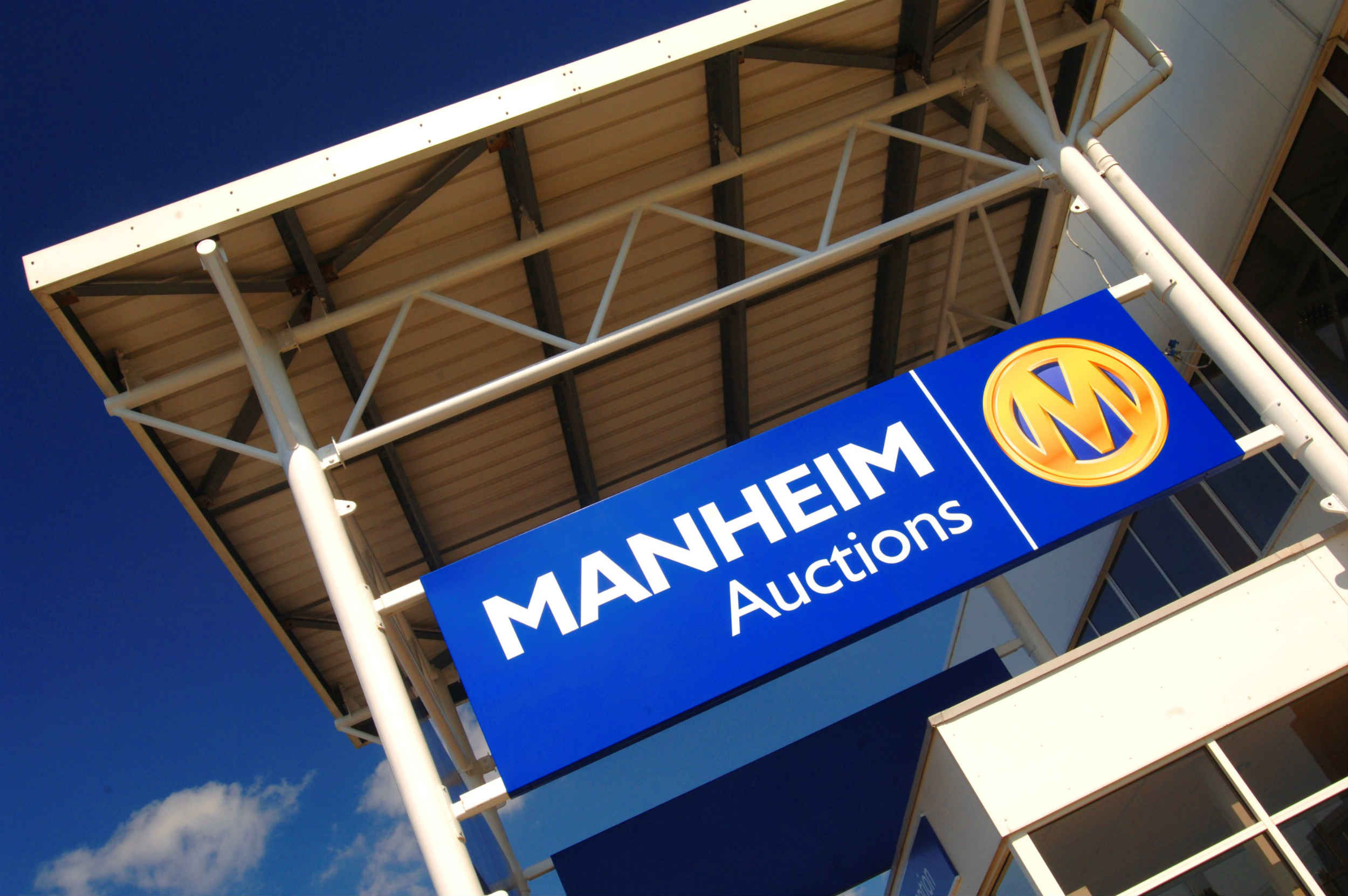 Outside of a Manheim auction centre