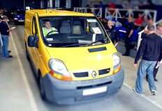 A van being auctioned at Manheim Auctions Haydock