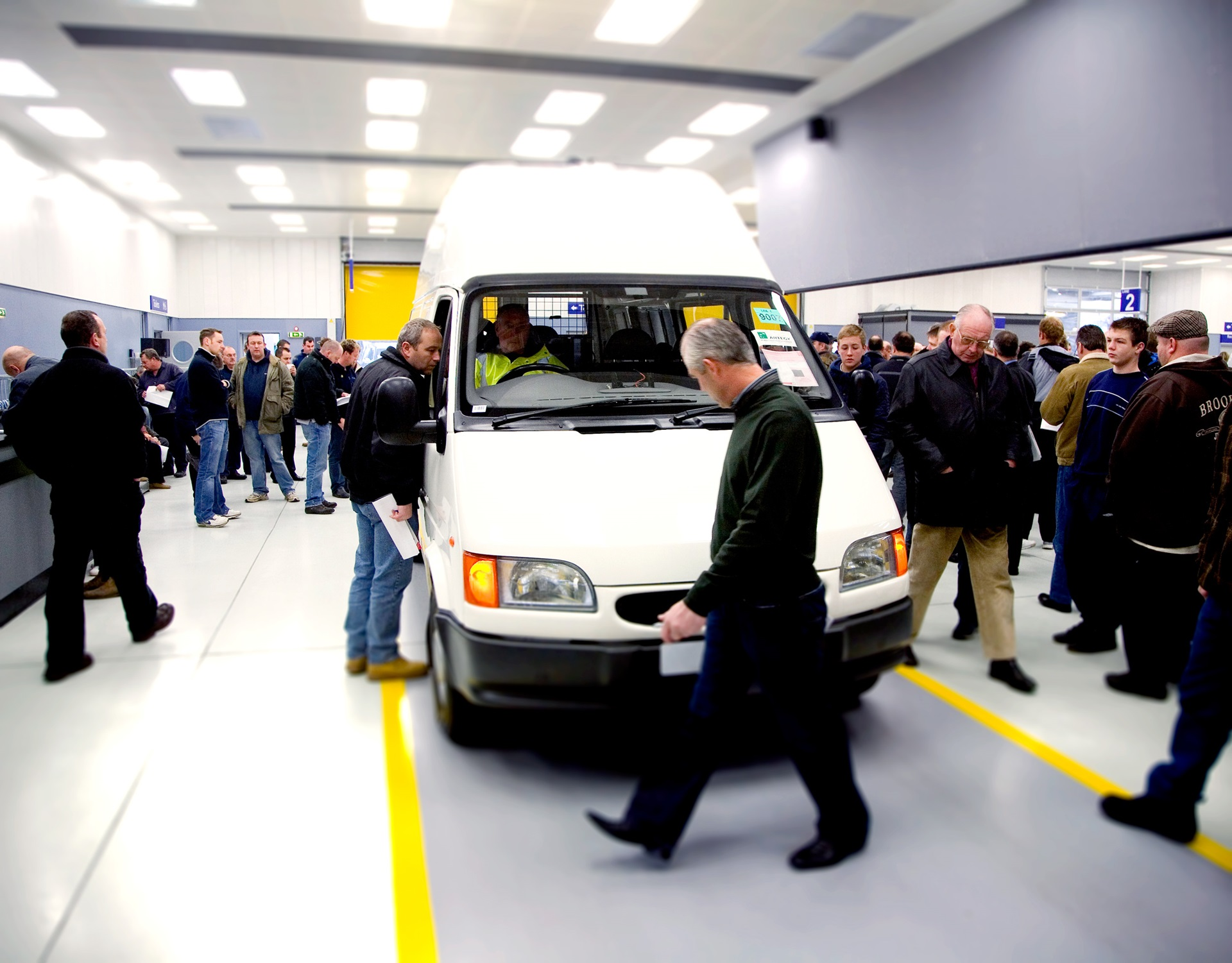 Van auction at Colchester